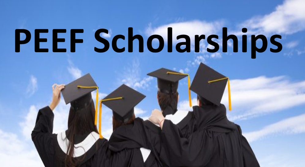 Find out PEEF scholarship matric level,inter level, graduate level, master level