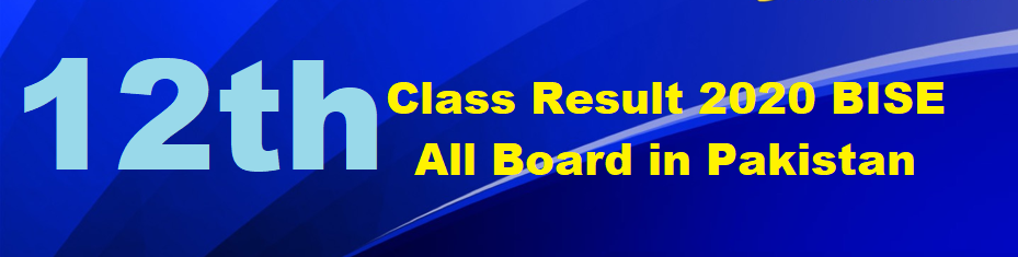 12th Class Result 2020 check online FA FSc ICS ICOM Inter result 2020