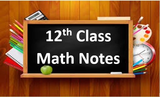 Free Download 12th Class Math Notes