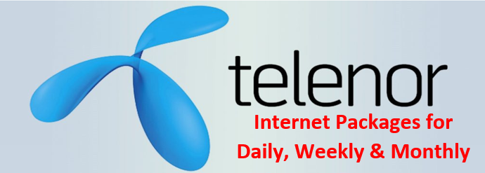 Telenor 3g and 4g Internet Packages